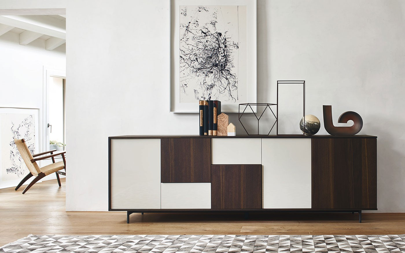 lampo sideboard exil wohnmagazin. Black Bedroom Furniture Sets. Home Design Ideas